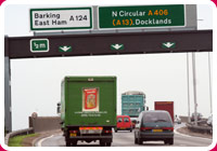A406 exit to Barking