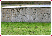 Barking Town Quay stone