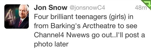 Jon Snow tweets!